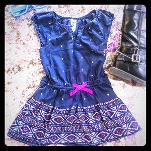 Adorable Tribal Dress Osh Kosh Navy/Pink 2T-3T